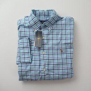 Ralph Lauren Long Sleeve Plaid Oxford Shirt NWT